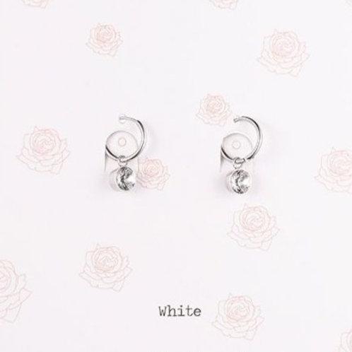 Wishdom White Earrings Silver
