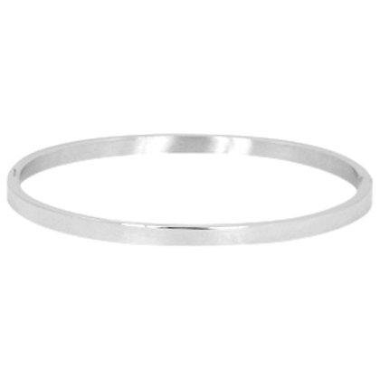 Plain stainless steel bracelet (silver)