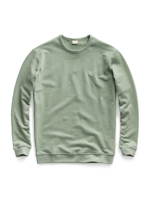 Shaka Crewneck Leaf Green