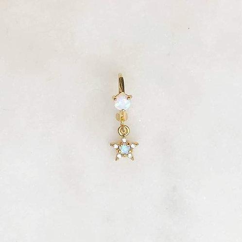 Earring Double Opal Star By☆Nouck