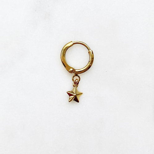 Earring Mini 3D Star By☆Nouck