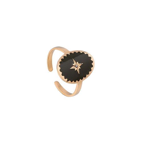Ring Dark Green Star Rose