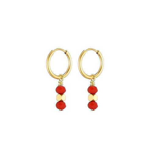 Hoops Red Stone Gold