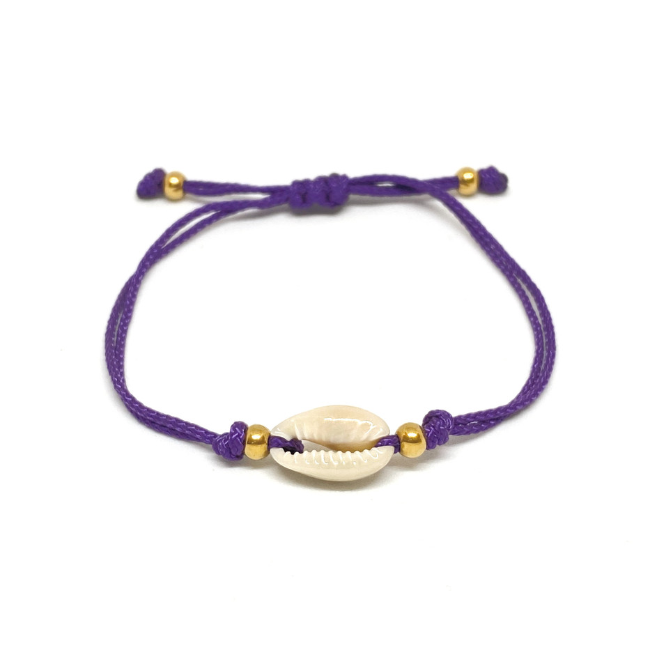 Bracelet Simple Shell Purple