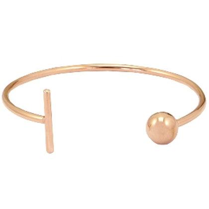Bar & Ball stainless steel bracelet (rose gold)