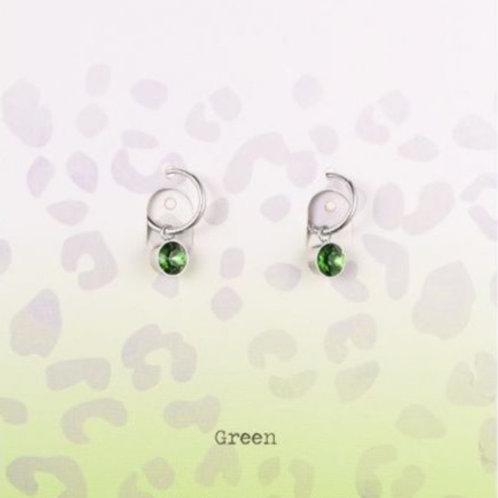 Wishdom Green Earrings Silver