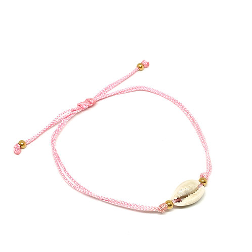 Simple Shell Pink Anklet