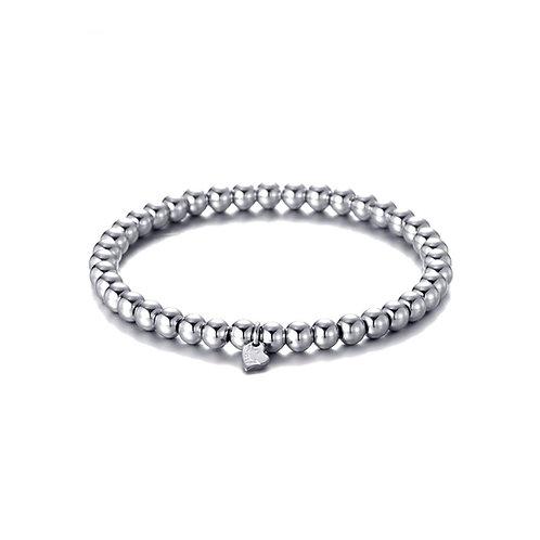 Plain Ball Bracelet Silver