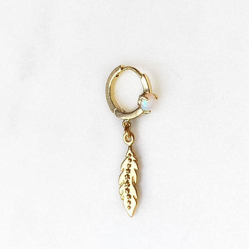 Opal Earring Feather By☆Nouck