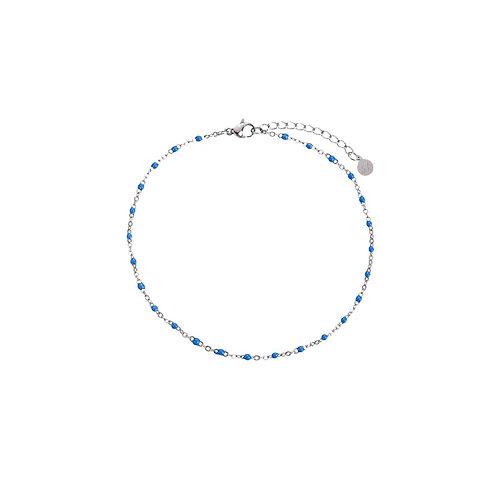 Anklet Blue Silver