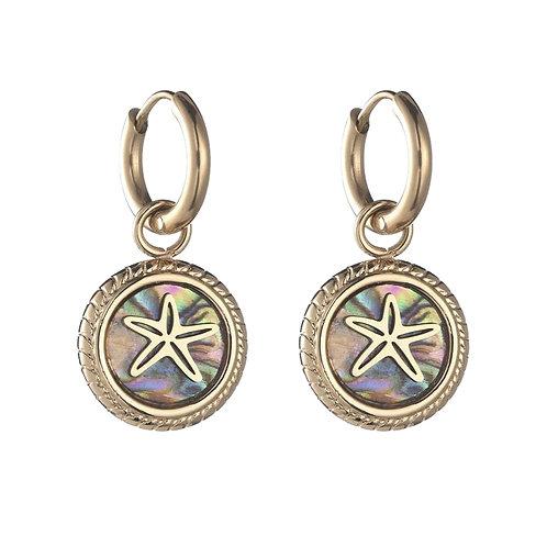 Hoops Starfish Grey / Gold