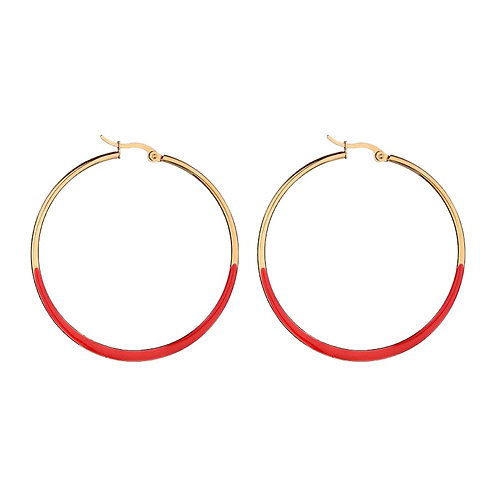 Hoops Red / Gold