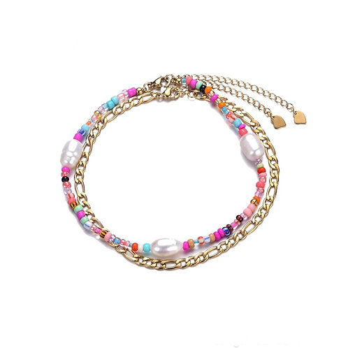 Anklet Double Pink Gold