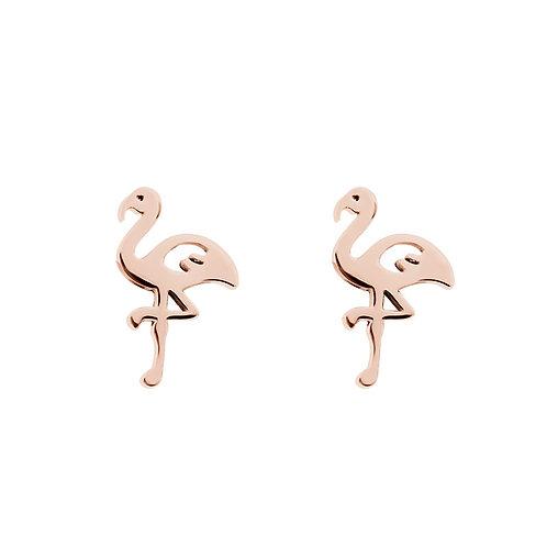 Ear studs flamingo
