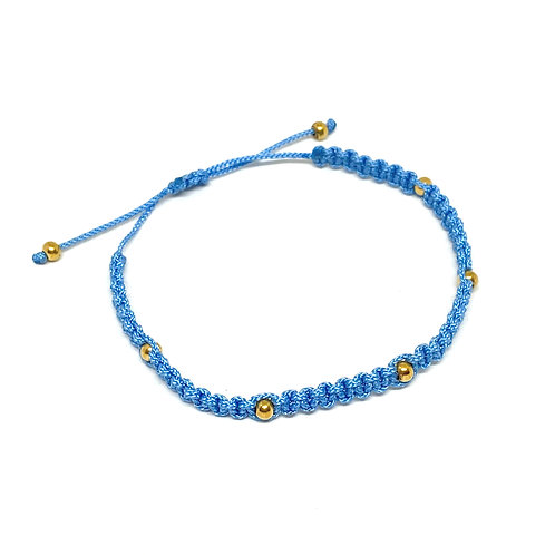 Happy Beads Baby Blue Anklet