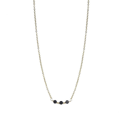 3 Dots Black / Gold Necklace