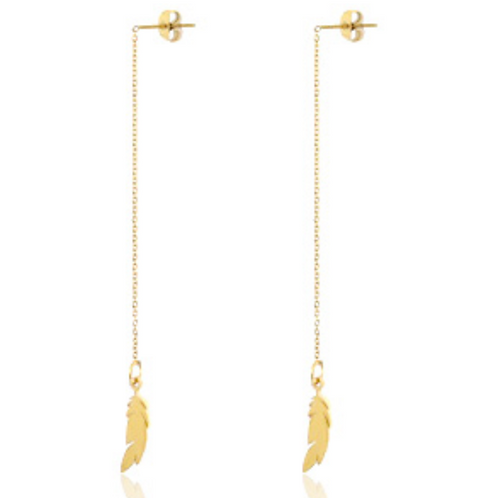 Feather Gold Earrings