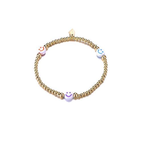 Smiley Multi Bracelet Gold