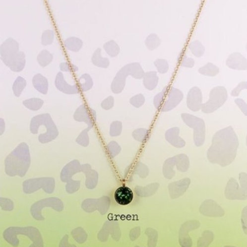 Wishdom Necklace Green / Gold