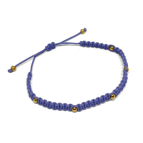 Happy Beads Lavender Anklet