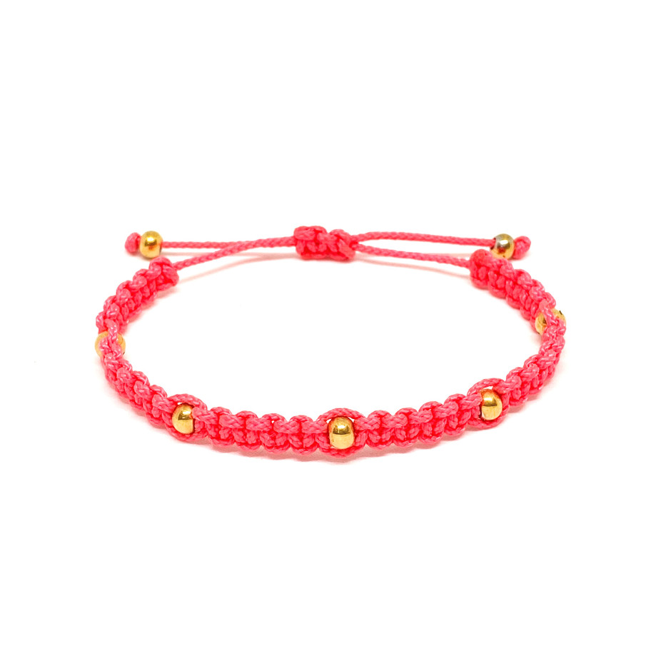 Happy Bead Bracelet Pink