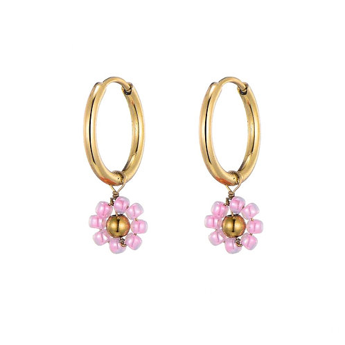 Hoops Daisy Pink Gold