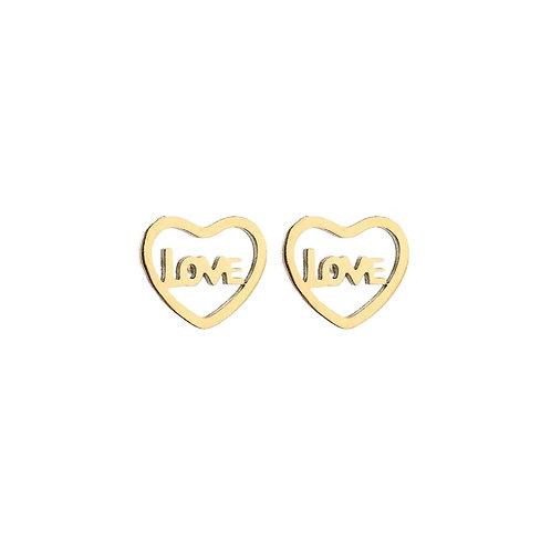 Love Earstuds Gold