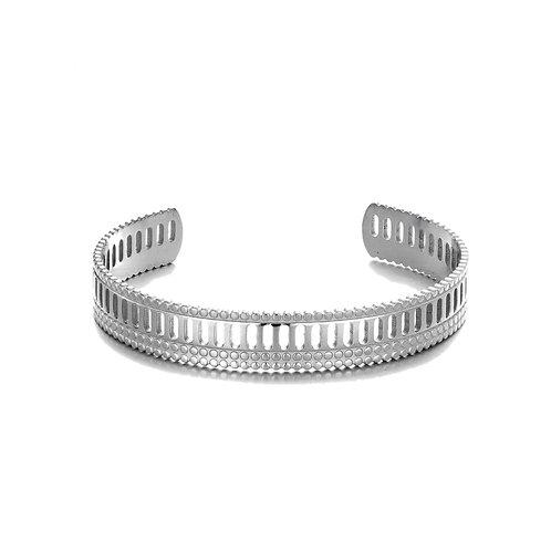 Stripes Bangle  Silver
