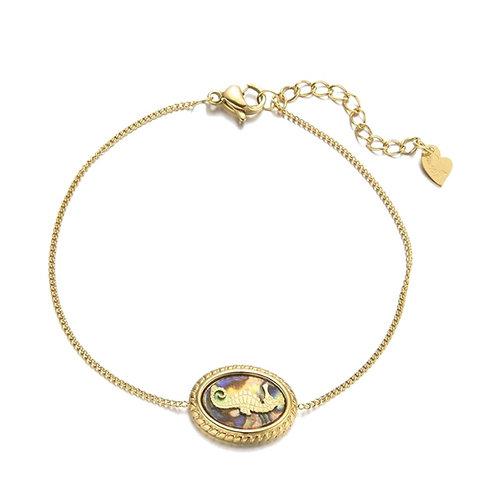 Seahorse Bracelet Gold