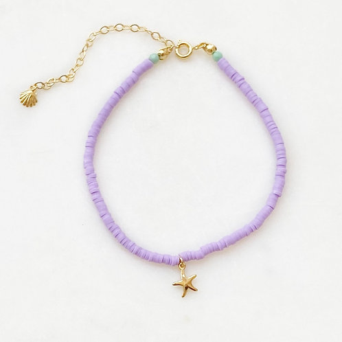 Lilac Surf Anklet Starfish By☆Nouck