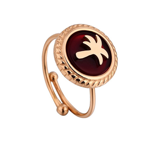 Ring Palm Tree Red