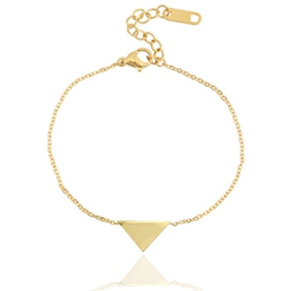 Triangle stainless steel bracelet (gold)