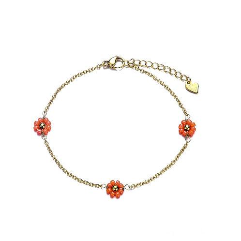 Daisy Coral Bracelet Gold