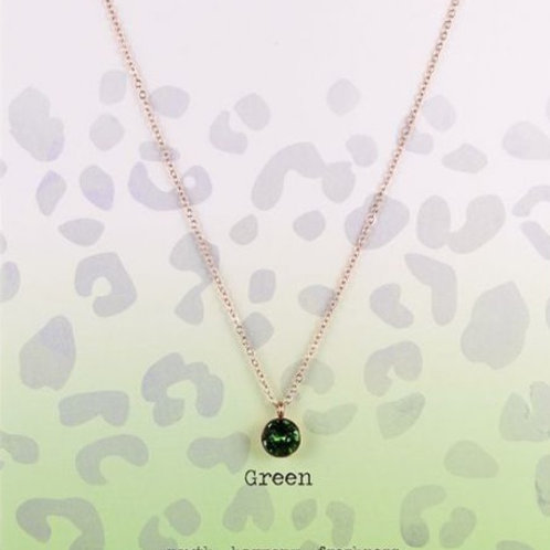 Wishdom Necklace Green / Rose