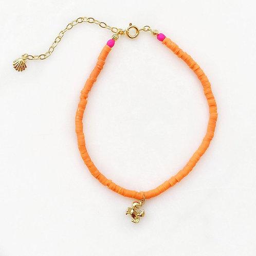 Orange Surf Anklet Crabby By☆Nouck