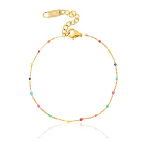 Rainbow Anklet Gold