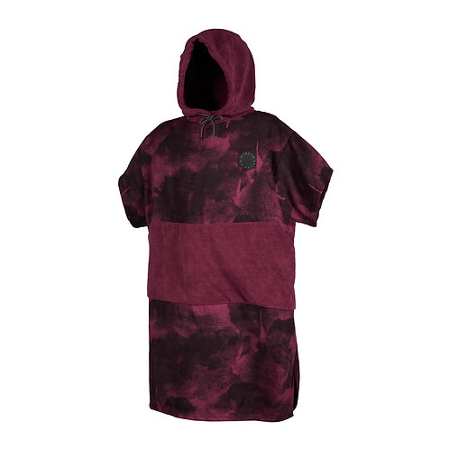 Poncho All Over Oxblood Red