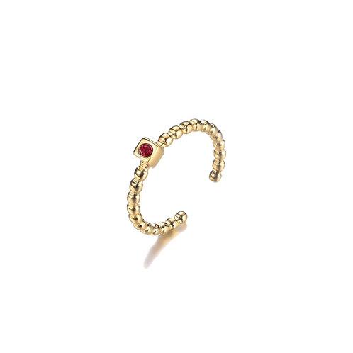 Dot Ring Red Gold