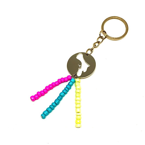 Bonaire Keychain With Beads