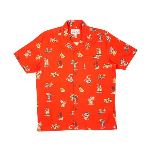 Island Daze S/S Woven Red
