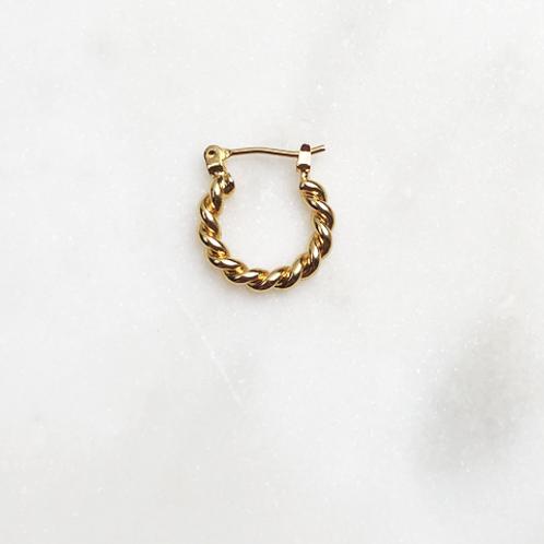 1.5 cm Twisted Hoop By☆Nouck