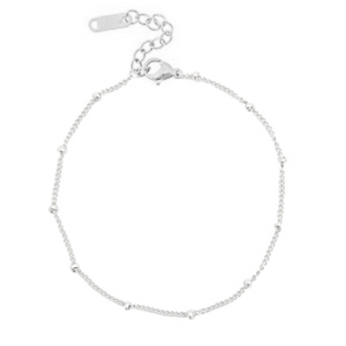 Ball Anklet Silver
