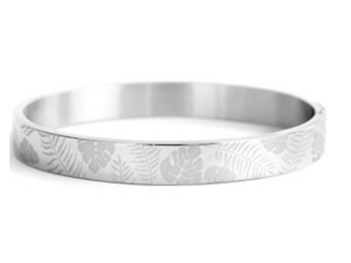 Tropical Leaves Silver Big