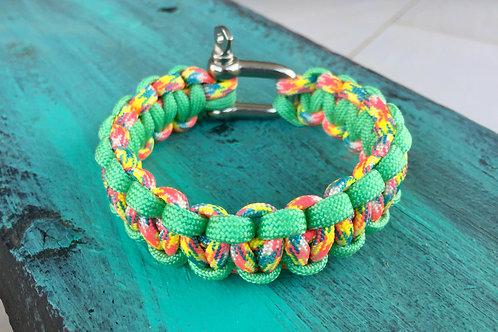 Paracord Bracelet - Candy Cane / Mint Green