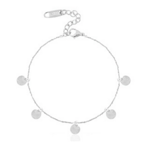 Coin Anklet Silver