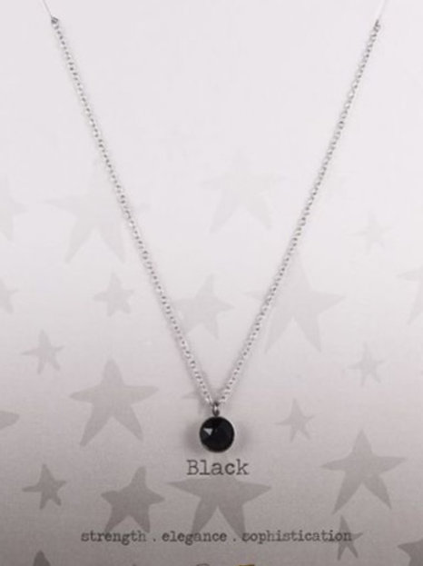 Wishdom Necklace Black / Silver