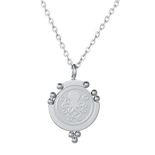 Octopus Necklace Silver