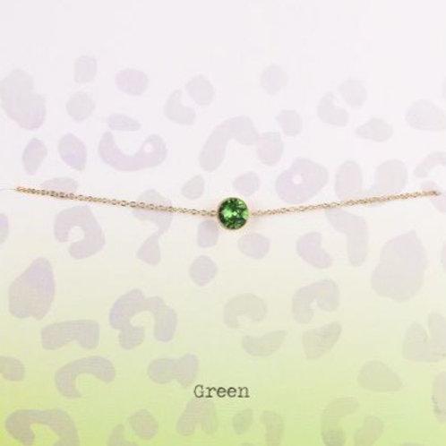 Wishdom Green Bracelet Gold