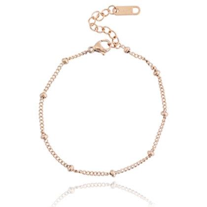 Ball stainless steel bracelet (rose gold)