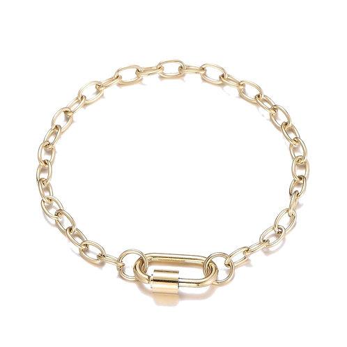 D Chain Bracelet Gold